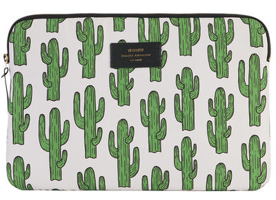 Accessoires - Sacs, trousses, porte-monnaie... - Housse pour tablette Cactus / pour iPad Air - Woouf! - Blanc / Cactus vert - Polyester