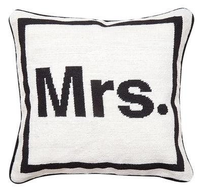Dekoration - Kissen - Mrs Kissen / 41 x 41 cm - Jonathan Adler - Mrs / schwarz und weiß - Wolle