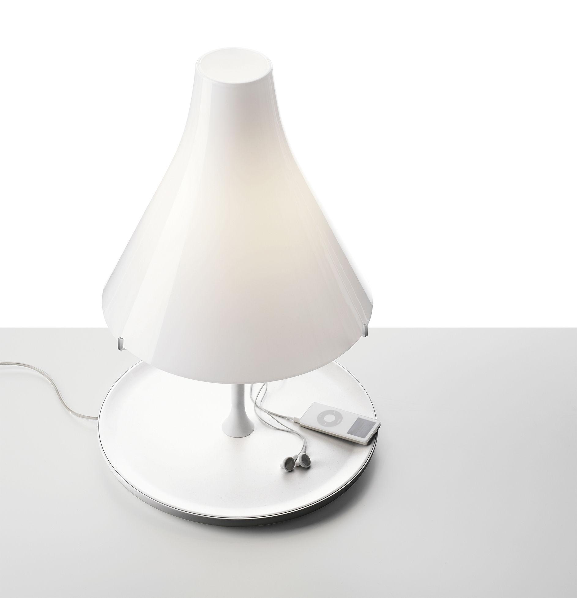 Lampada da tavolo tosca foscarini paralume ambra base in legno h 50 x 33 made in design - Base lampada da tavolo ...