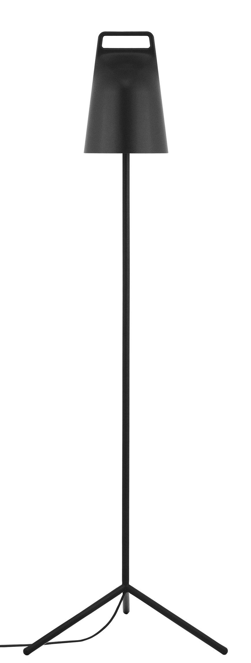 Luminaire - Lampadaires - Lampadaire Stage LED / Orientable - Normann Copenhagen - Noir - Métal laqué, Plastique