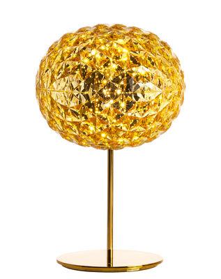 Lampe de table Planet / LED - H 53 cm - Kartell or,jaune transparent en matière plastique