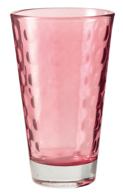Tableware - Wine Glasses & Glassware - Optic Long drink glass - H 13 x Ø 8 cm - 30 cl by Leonardo - Red - Thin layered glass