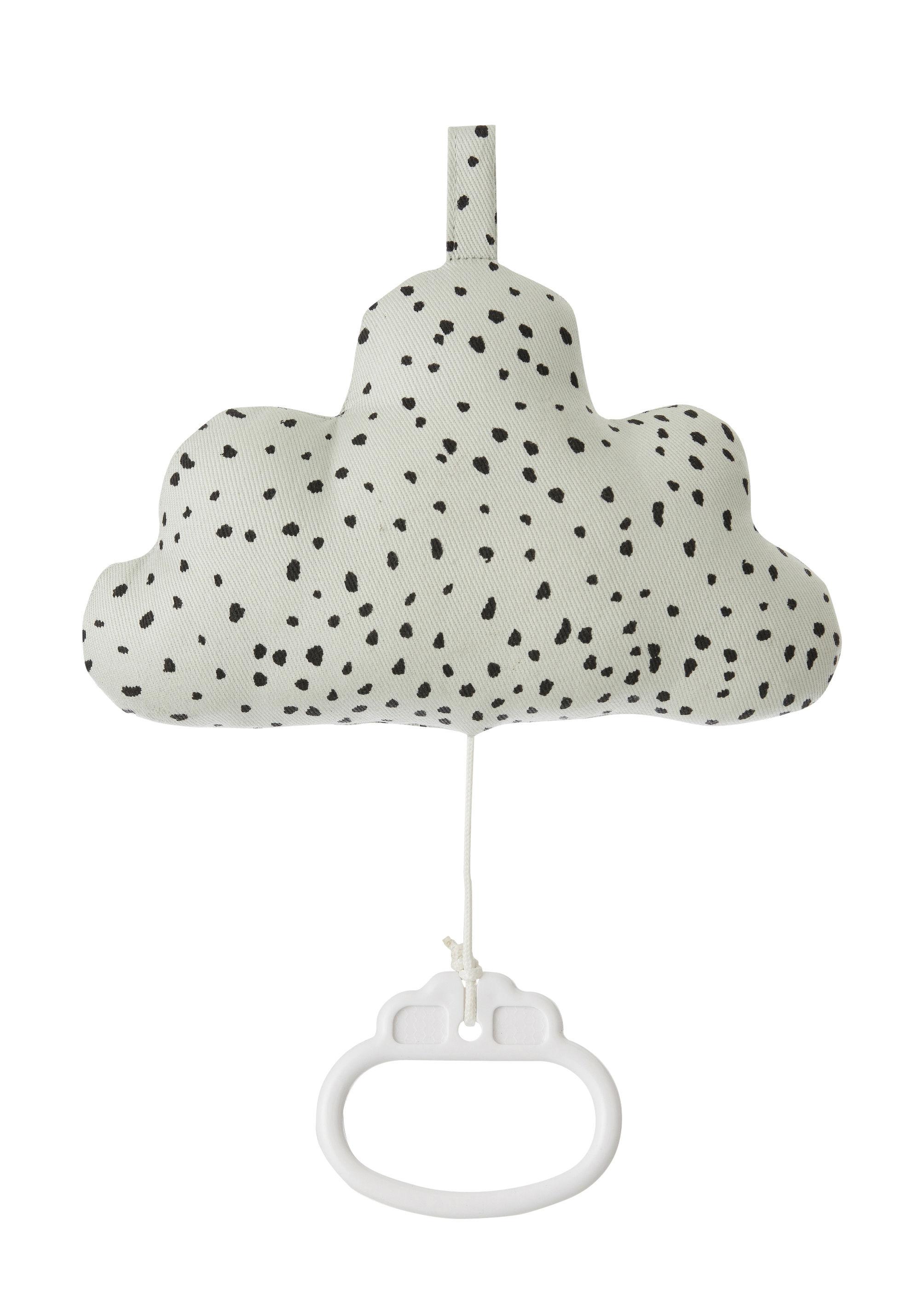 Déco - Pour les enfants - Mobile musical Cloud - Ferm Living - Vert menthe - Coton, Polyester