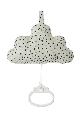 Decoration - Children's Home Accessories - Cloud Music Mobile by Ferm Living - Green mint - Cotton, Polyester