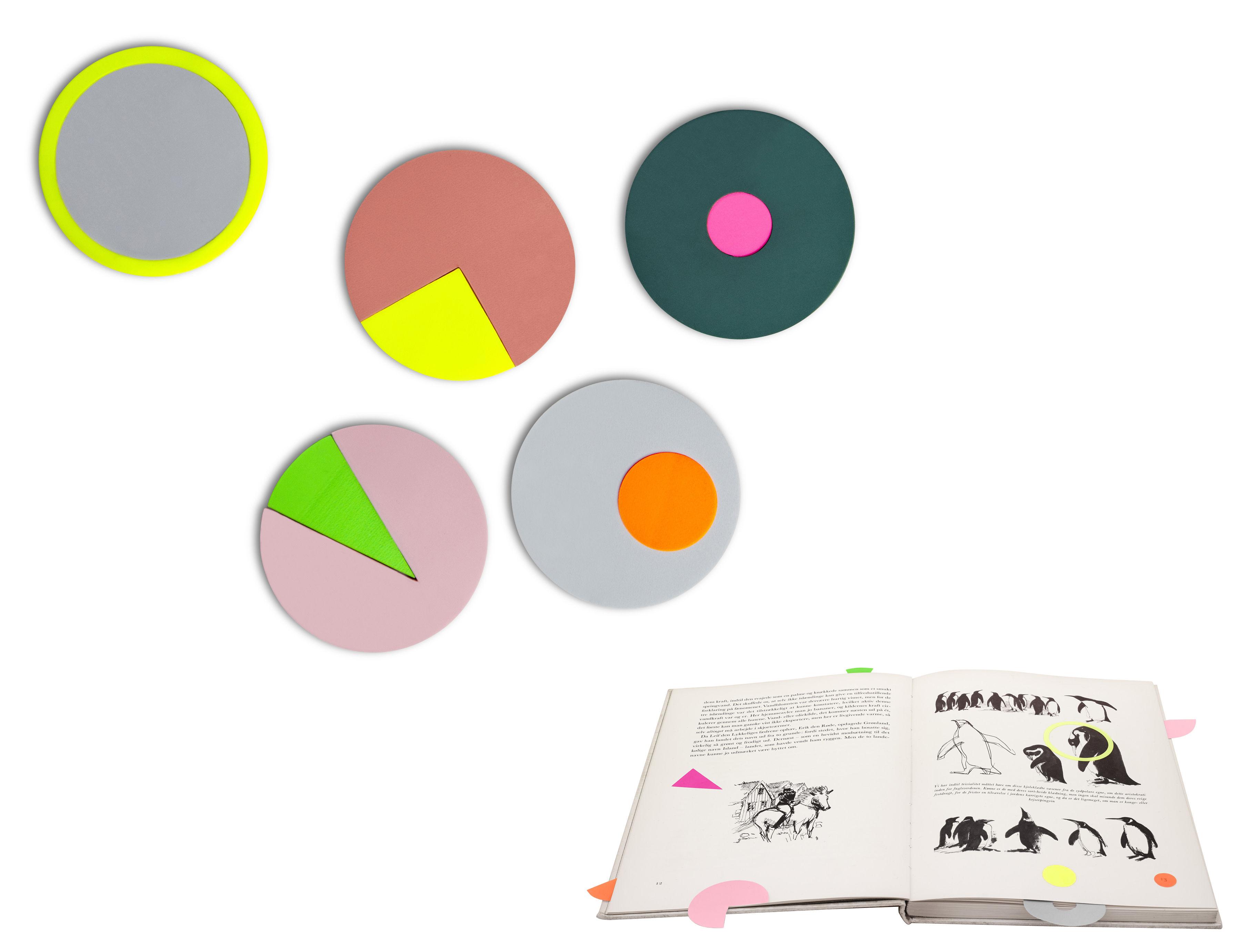 Accessori moda - Accessori ufficio - Note adesive - / Assortimento di etichette riposizionabili di Hay - Multicolore - Carta