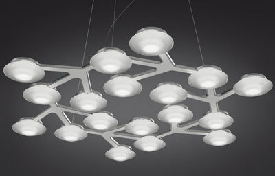 Lighting - Pendant Lighting - LED NET Pendant - Round- Ø 65 cm by Artemide - White - Methacrylate, Painted aluminium