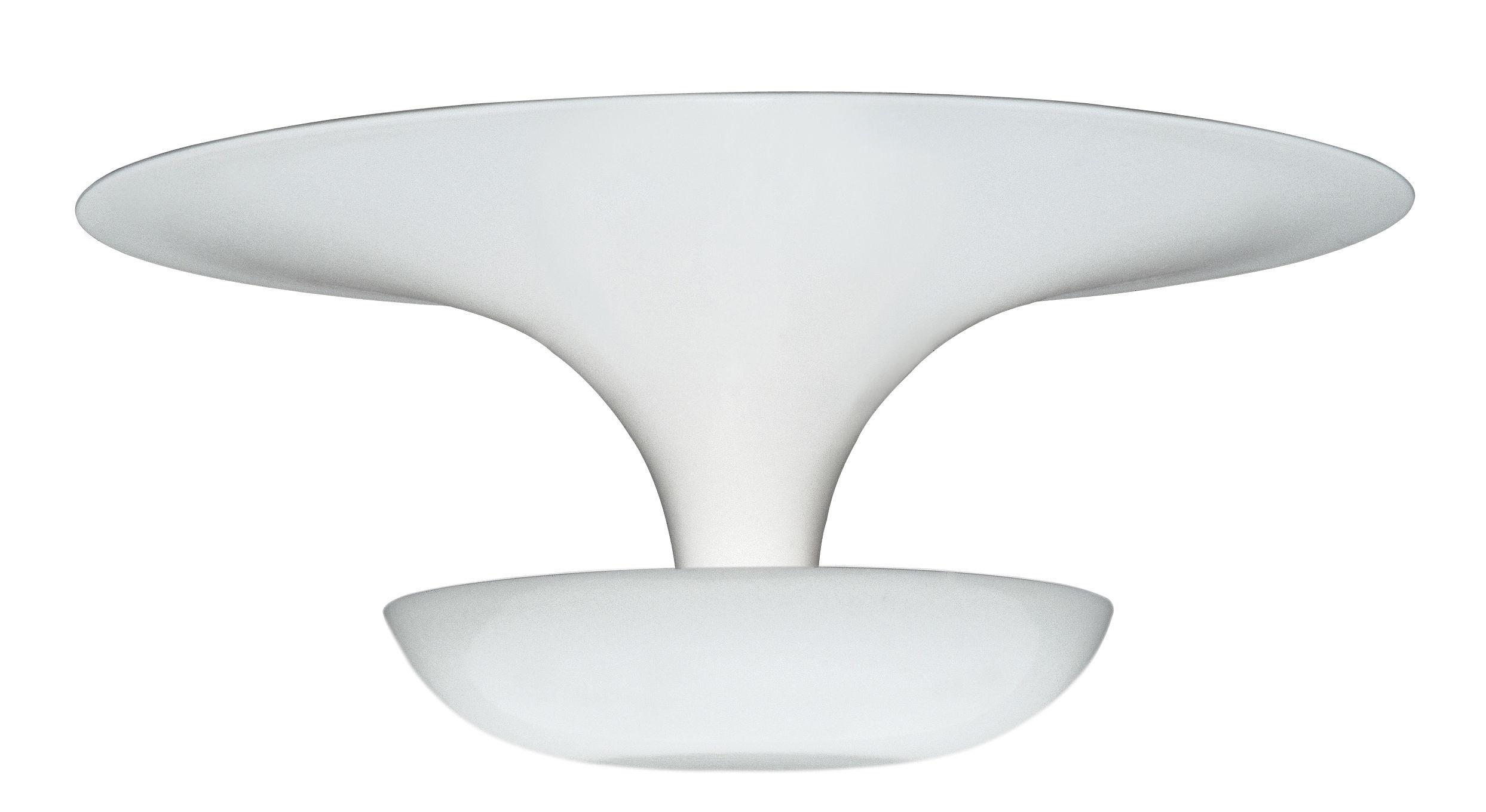 Luminaire - Plafonniers - Plafonnier Funnel Mini / LED - Ø 22 cm - Vibia - Blanc - Aluminium peint