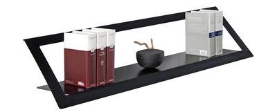 Möbel - Regale und Bücherregale - Air Regal / L 120 cm - Zeus - Schwarzmatt, phosphatiert - phosphatierter Stahl