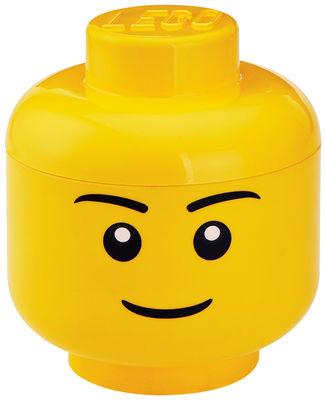 Interni - Per bambini - Scatola Lego® Head Boy - / Large di ROOM COPENHAGEN - Ragazzo / Giallo - Polipropilene