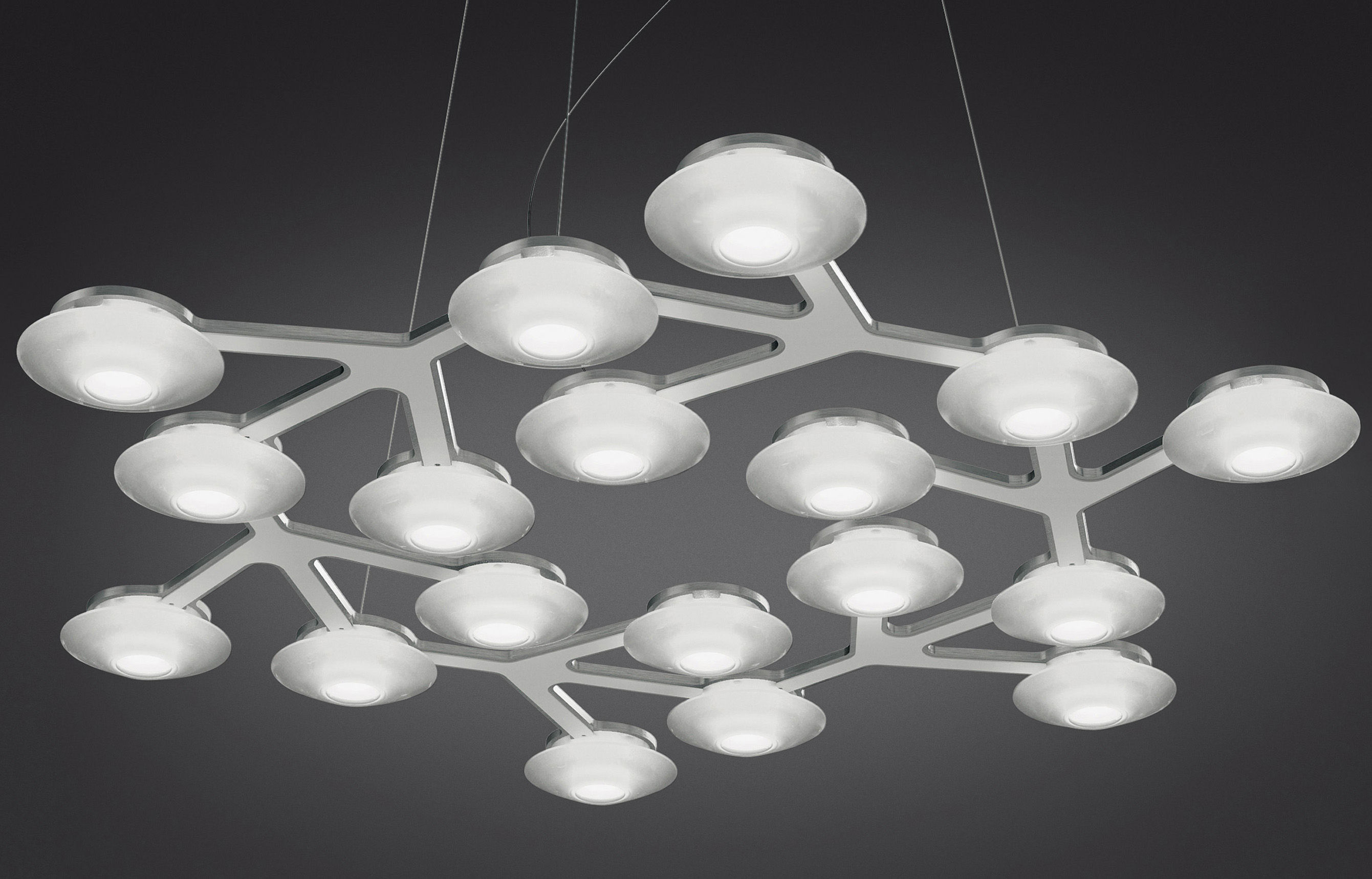 Illuminazione - Lampadari - Sospensione LED NET - circolare - Ø 65 cm di Artemide -  - alluminio verniciato, Metacrilato