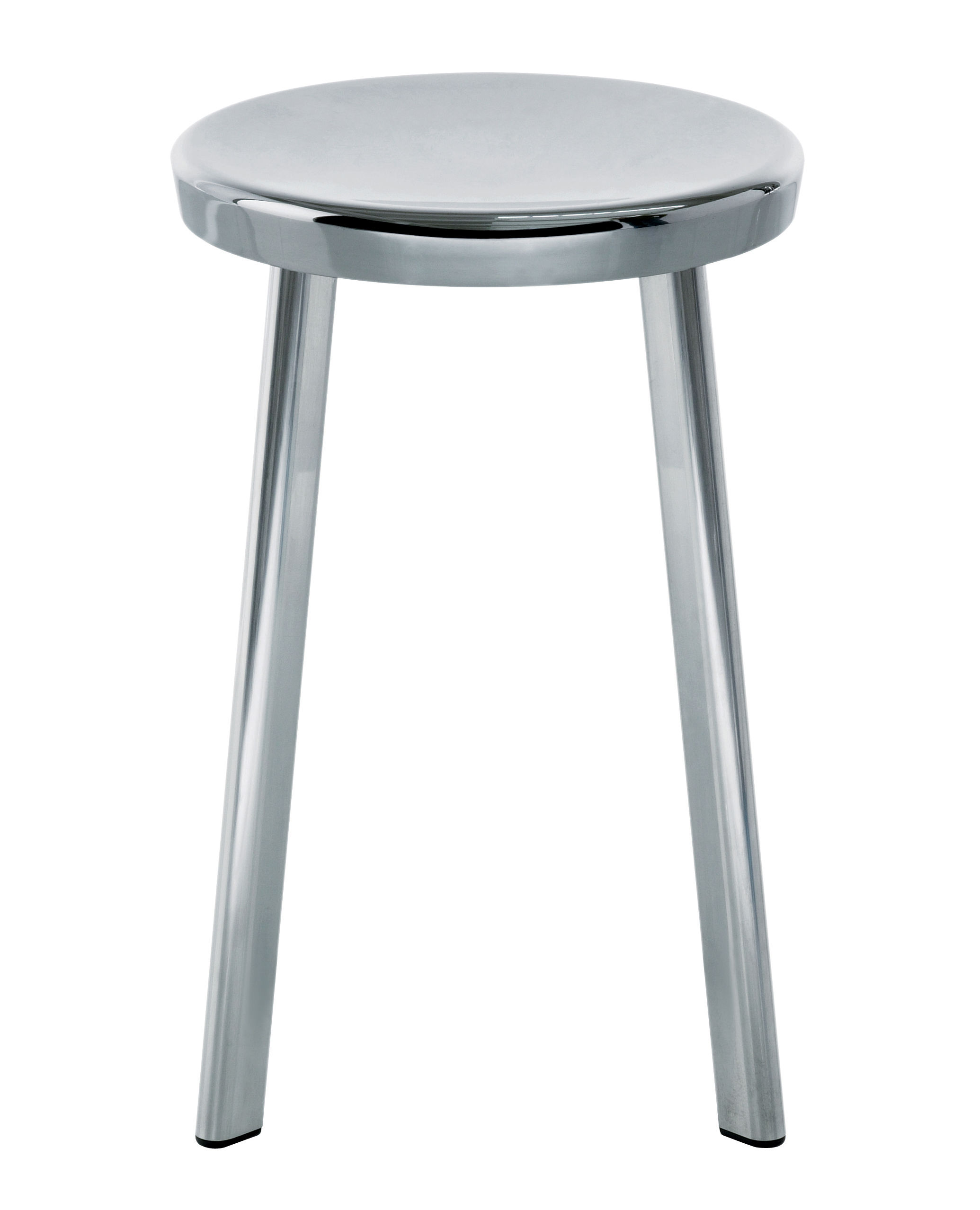 Furniture - Stools - Déjà-vu Stool by Magis - Stool H 50 cm - Cast aluminium, Polished aluminium