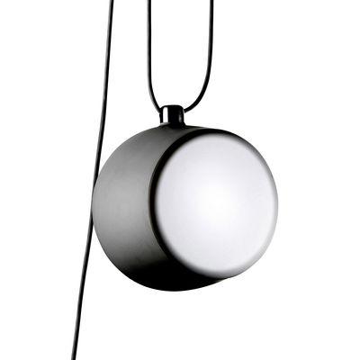 Luminaire - Suspensions - Suspension AIM LED /  Ø 24 cm - Flos - Noir - Aluminium peint, Polycarbonate