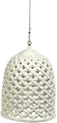 Luminaire - Suspensions - Suspension Woven L Ø 33 cm - Pols Potten - Blanc - Porcelaine