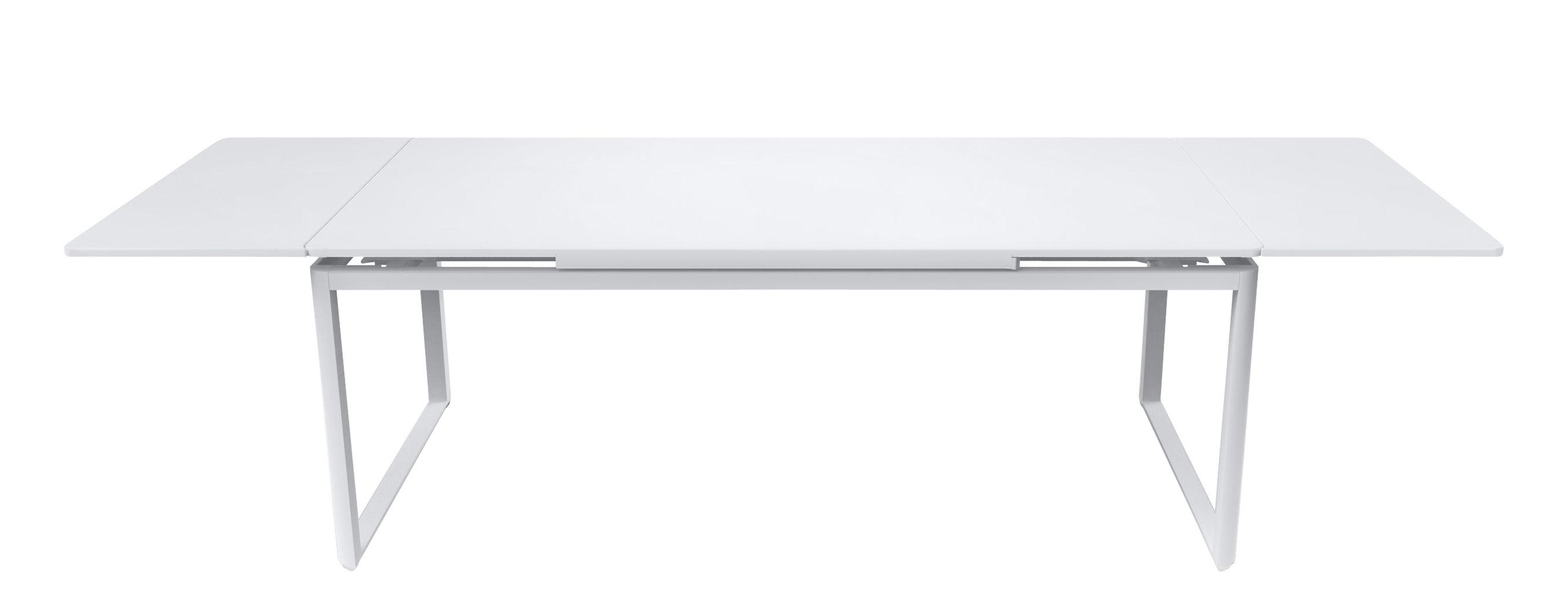 Outdoor - Tables de jardin - Table à rallonge Biarritz / L 200 à 300 cm - Fermob - Blanc - Acier laqué, Aluminium laqué