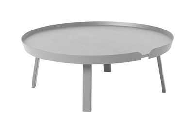 Table basse Around XL / Ø 95 x H 36 cm - Muuto gris en bois
