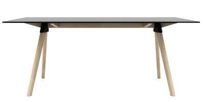 Mobilier - Tables - Table Butch - The Wild Bunch / 180 x 90 cm - Magis - Noir / Pieds bois naturel - Hêtre massif, HPL, Polypropylène