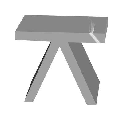Table d'appoint Toy version laquée - Slide laqué gris en matière plastique