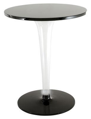 Table de jardin TopTop - Dr. YES / Ø 70 cm - Kartell noir en matière plastique
