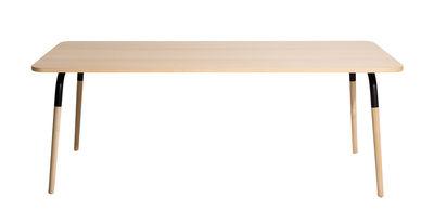 Table rectangulaire Dojo / Hêtre & acier - Petite Friture noir,hêtre en métal