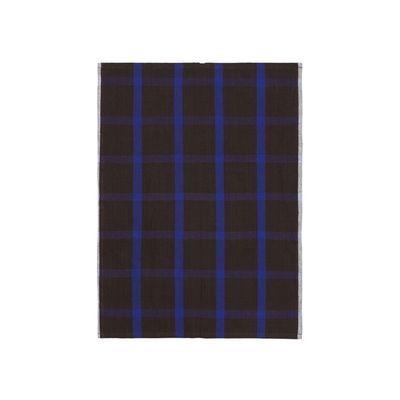 Tableware - Tea Towels & Aprons - Hale Tea towel - / 50 x 70 cm by Ferm Living - Chocolate & blue - Cotton, Linen