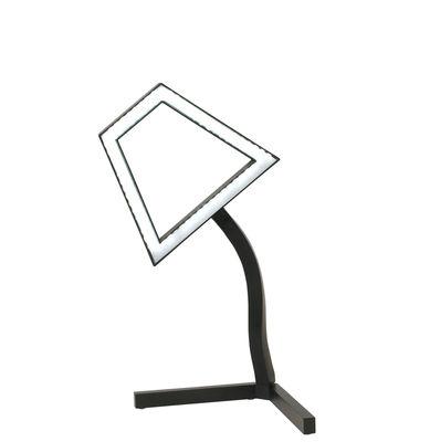 Leuchten - Tischleuchten - 2D LED Tischleuchte schwenkbar - Skitsch - Schwarz - bemaltes Aluminium, Kautschuk, Polykarbonat