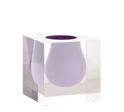 Déco - Vases - Vase Bel Air Mini Scoop / Acrylique - Carré L 10 cm - Jonathan Adler - Lilas / Transparent - Acrylique