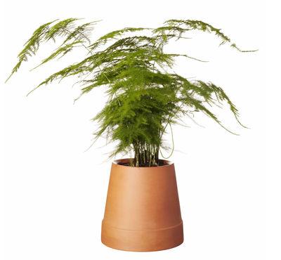 Image of Vaso con riserva d'acqua Flipped / Terracotta - Boskke - Arancione/Marrone - Ceramica