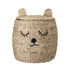 Ourson Basket - / with lid - Water hyacinth by Bloomingville