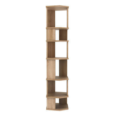 Mobilier - Etagères & bibliothèques - Bibliothèque Stairs / Colonne - Chêne massif / L 46 cm x H 204 cm - Ethnicraft - Chêne - Chêne massif