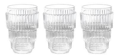 Tavola - Bicchieri  - Bicchiere Machine Collection - / H 13 cm - Set da 3 di Diesel living with Seletti - H 13 cm / trasparente - Vetro