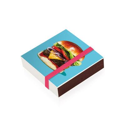 Boîte d'allumettes Burger / 10 x 10 cm - Image Republic multicolore en papier