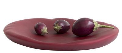 Tableware - Plates - Canova Large Bowl - Plate - Ø 37 cm by Moustache - Red bordeaux - Ceramic