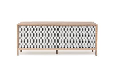 Buffet Gabin / Meuble TV - L 122 cm - Chêne & métal - Hartô gris/bois naturel en métal/bois