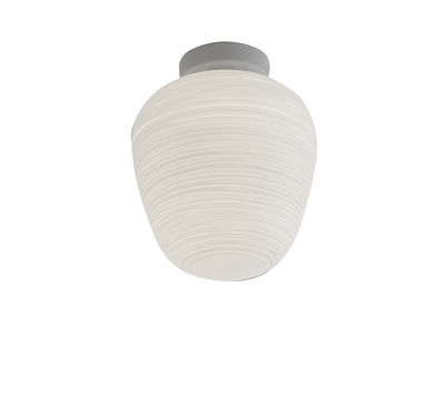 Lighting - Wall Lights - Rituals 3 Ceiling light - Ø 19 x H 23 cm by Foscarini - White - Lacquered metal, Mouth blown glass