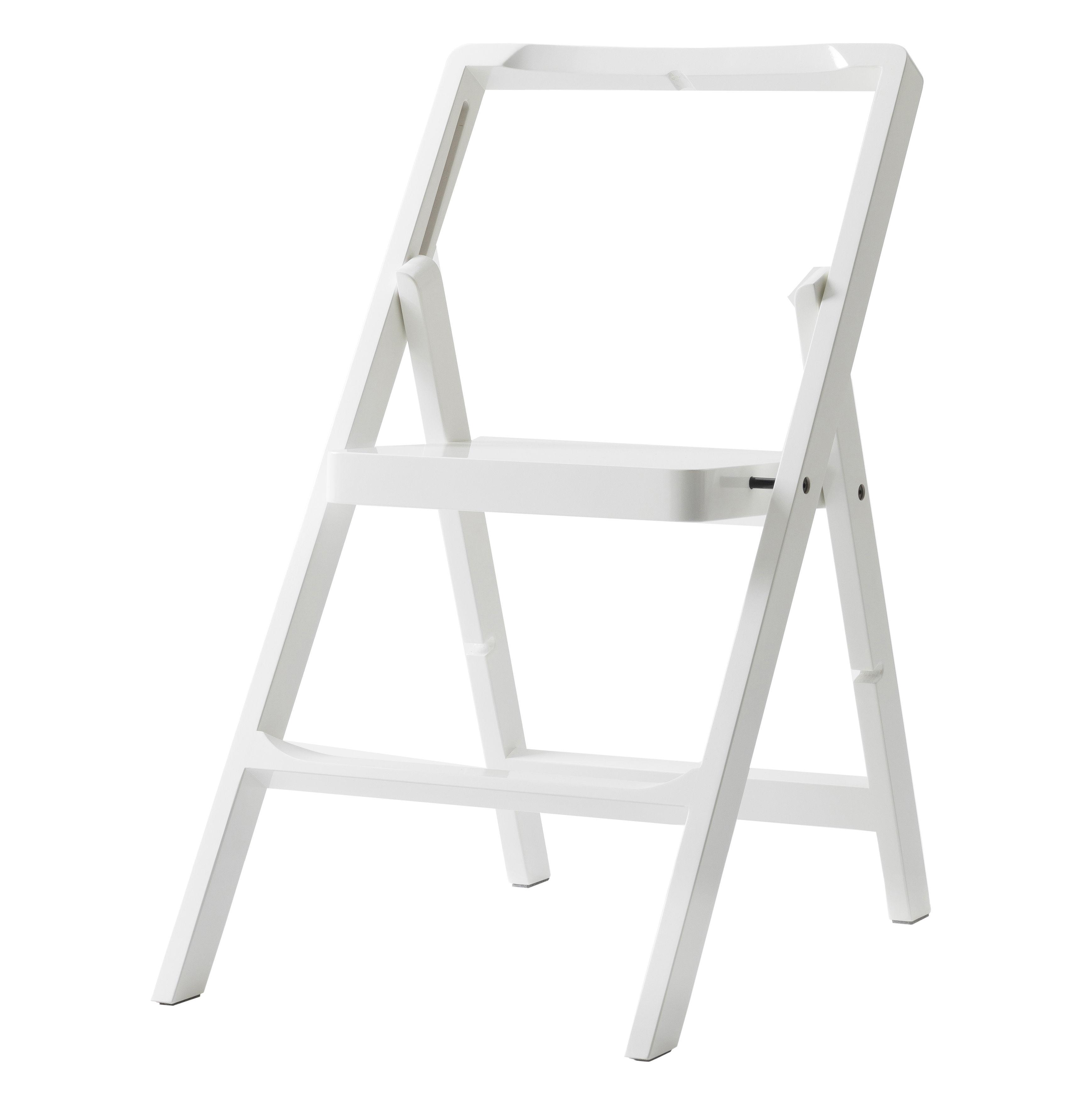 Mobilier - Compléments d'ameublement - Escabeau Mini Step / H 45 cm - Chaise pliante - Design House Stockholm - Blanc - Hêtre laqué