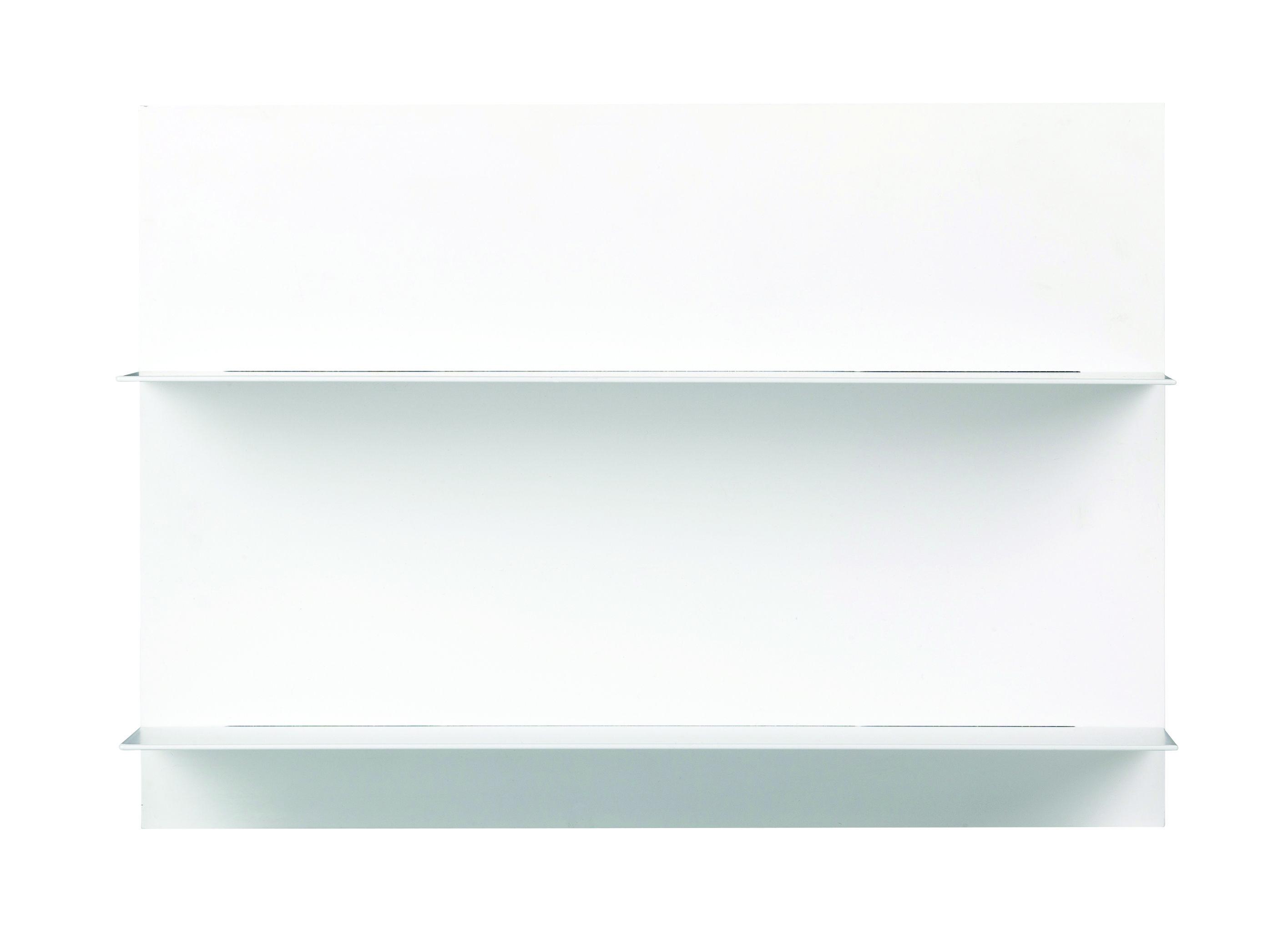 Mobilier - Etagères & bibliothèques - Etagère murale Paper / L 42 x H 29 cm - Design Letters - Blanc - Acier, MDF
