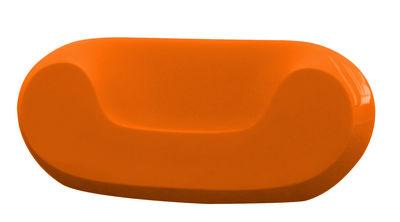 Fauteuil bas Chubby version laquée - Slide laqué orange en matière plastique
