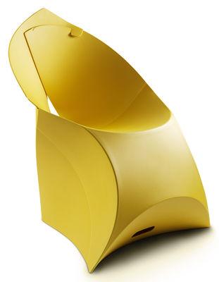Mobilier - Mobilier Kids - Fauteuil enfant Flux Chair / Pliable - Flux - Jaune - Polypropylène