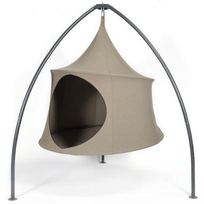 Outdoor - Chaises longues et hamacs - Fauteuil suspendu Domo / Tente - Ø 180 cm - 2 personnes - Cacoon - Terre -  Toile Olefin