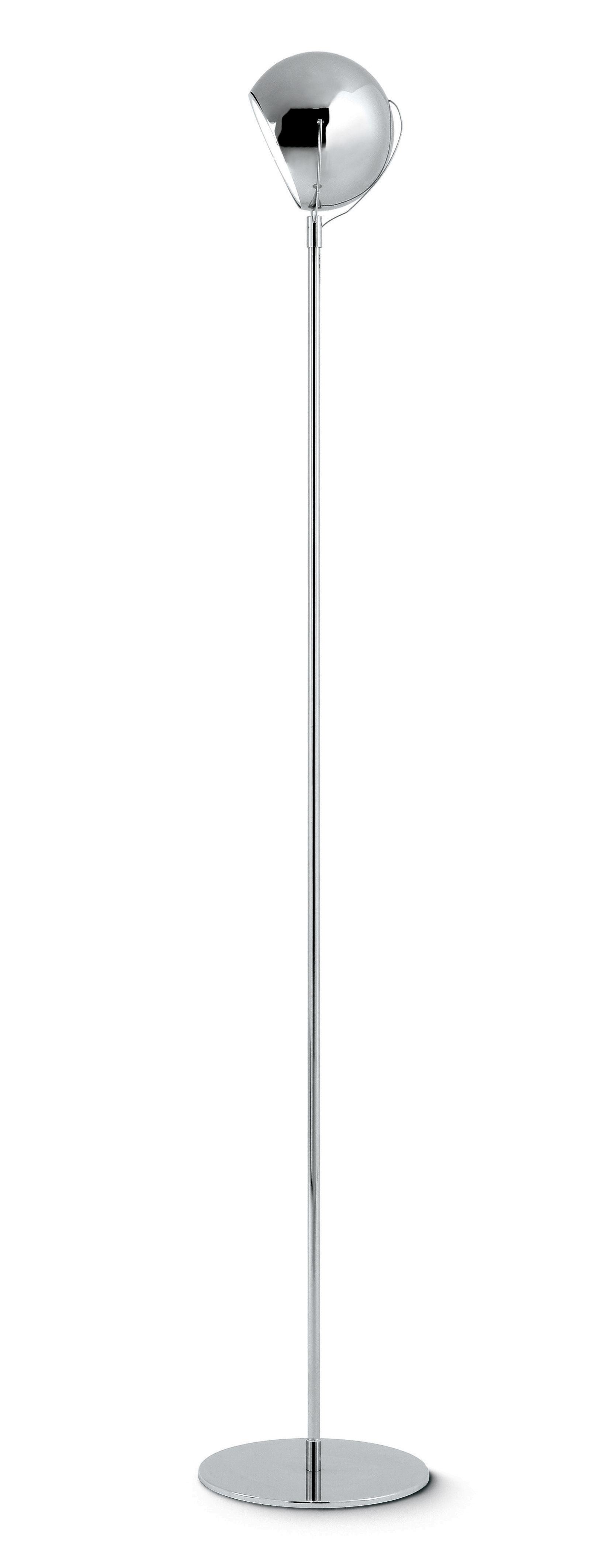 Lighting - Floor lamps - Beluga Floor lamp by Fabbian - Chromed - Chromed metal