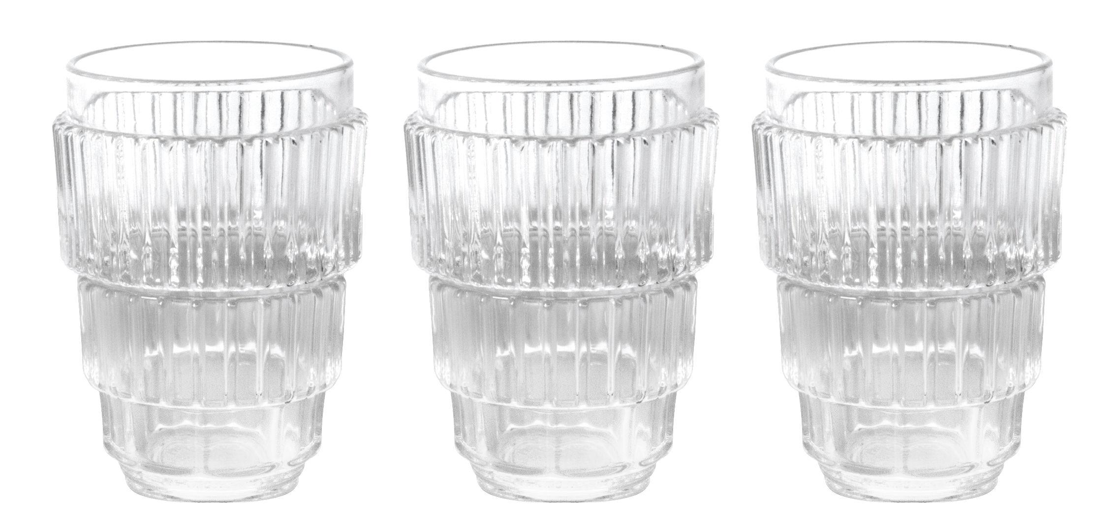 Tischkultur - Gläser - Machine Collection Glas / H 13 cm - 3er Set - Diesel living with Seletti - H 13 cm / Transparent - Glas