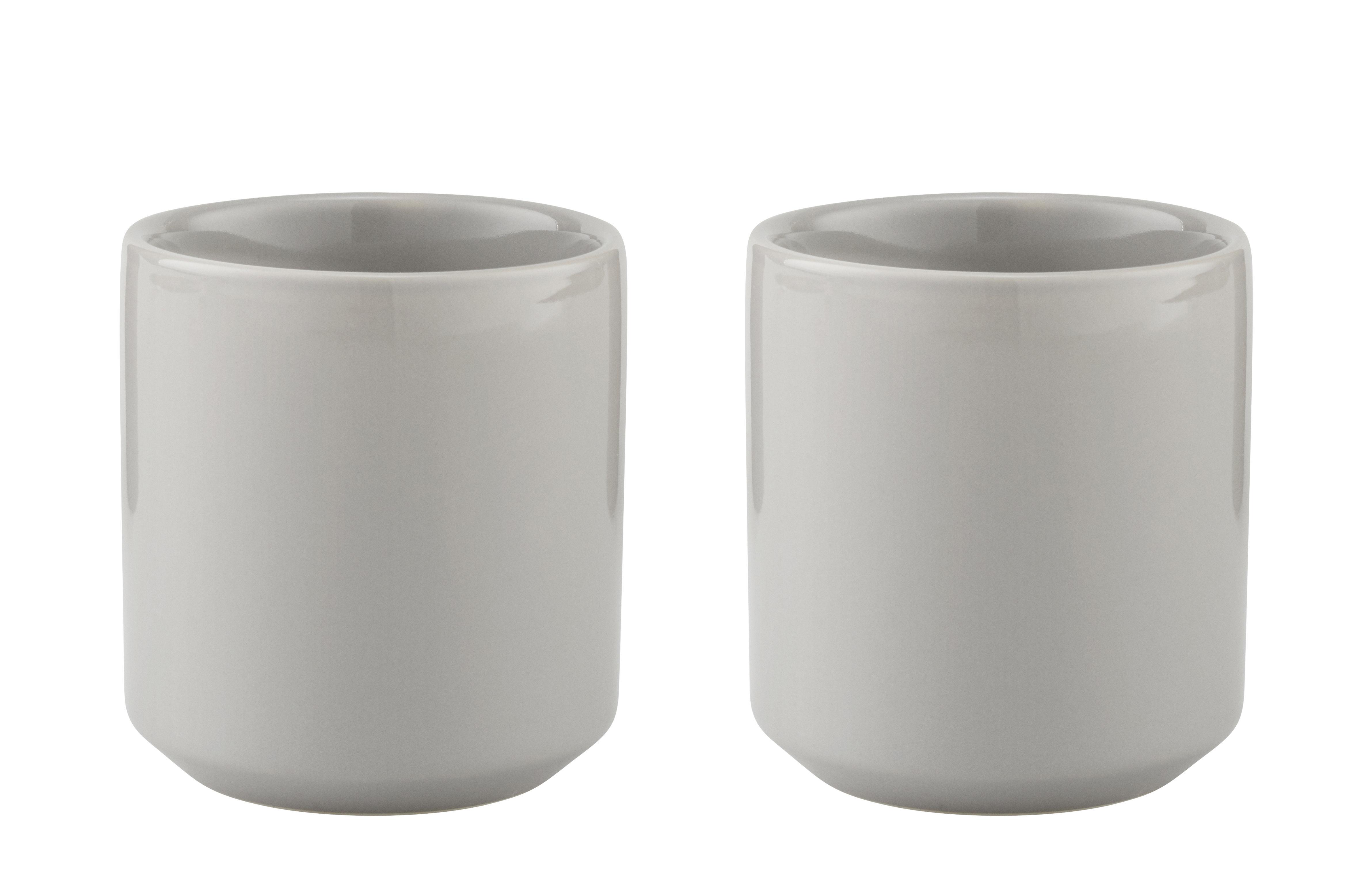 Tischkultur - Tassen und Becher - Core Iso-Tasse / Steinzeug - 2er-Set - Stelton - Hellgrau - Sandstein