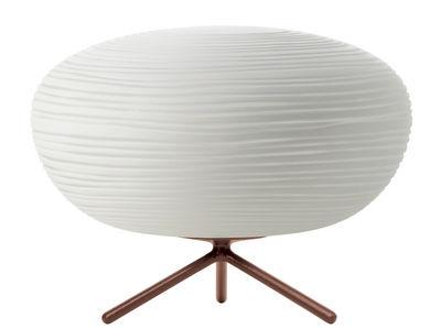 Illuminazione - Lampade da tavolo - Lampada da tavolo Rituals 2 - / Ø 34 x H 25 cm di Foscarini - Interruttore / Bianco - Vetro soffiato a bocca