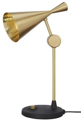 Lampe de table Beat / H 48 cm - Tom Dixon or en métal