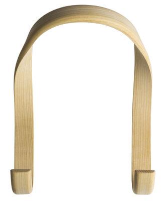 Mobilier - Portemanteaux, patères & portants - Patère Hook / Bois - 2 crochets - L 21 x H 26 cm - Hay - Bois naturel - Frêne massif