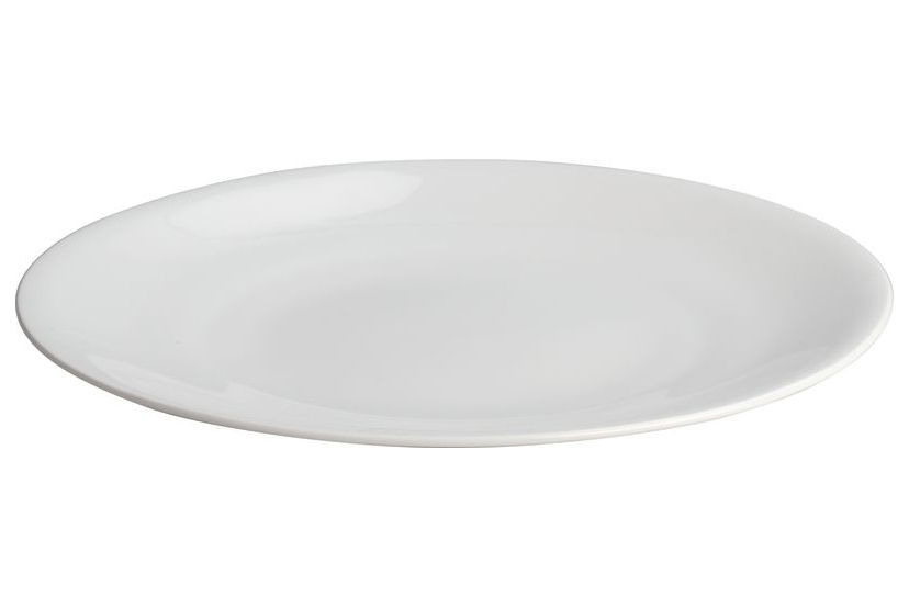 Tavola - Piatti  - Piatto All-time di A di Alessi - Piatto piano - Bianco - Porcellana Bone China