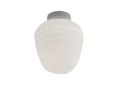 Illuminazione - Lampade da parete - Plafoniera Rituals 3 - / Ø 19 x H 23 cm di Foscarini - Bianco / Ø 19 x H 23 cm - metallo laccato, Vetro soffiato a bocca