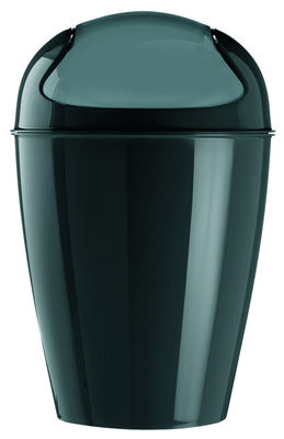 Déco - Salle de bains - Poubelle Del S / H 37 cm - 5 Litres - Koziol - Noir - Polypropylène