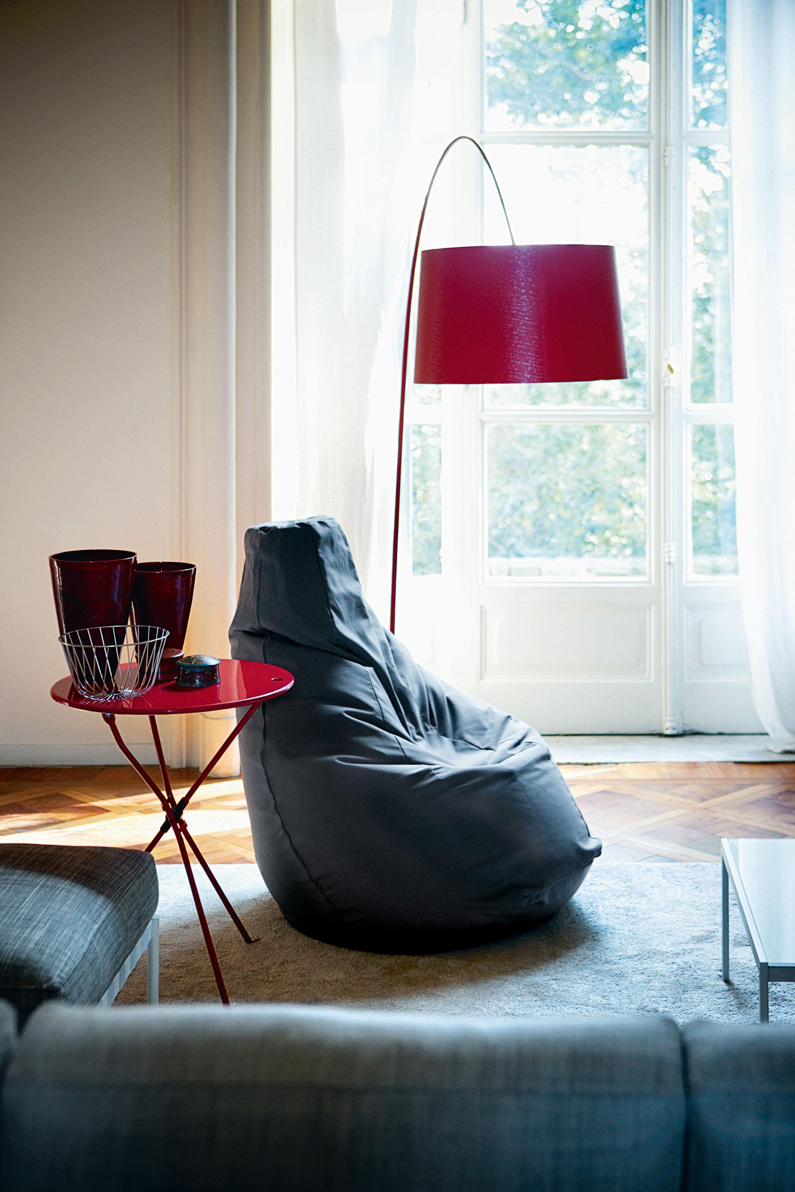 Scopri Pouf Sacco -similcuoio Volo, Beige di Zanotta, Made In Design ...