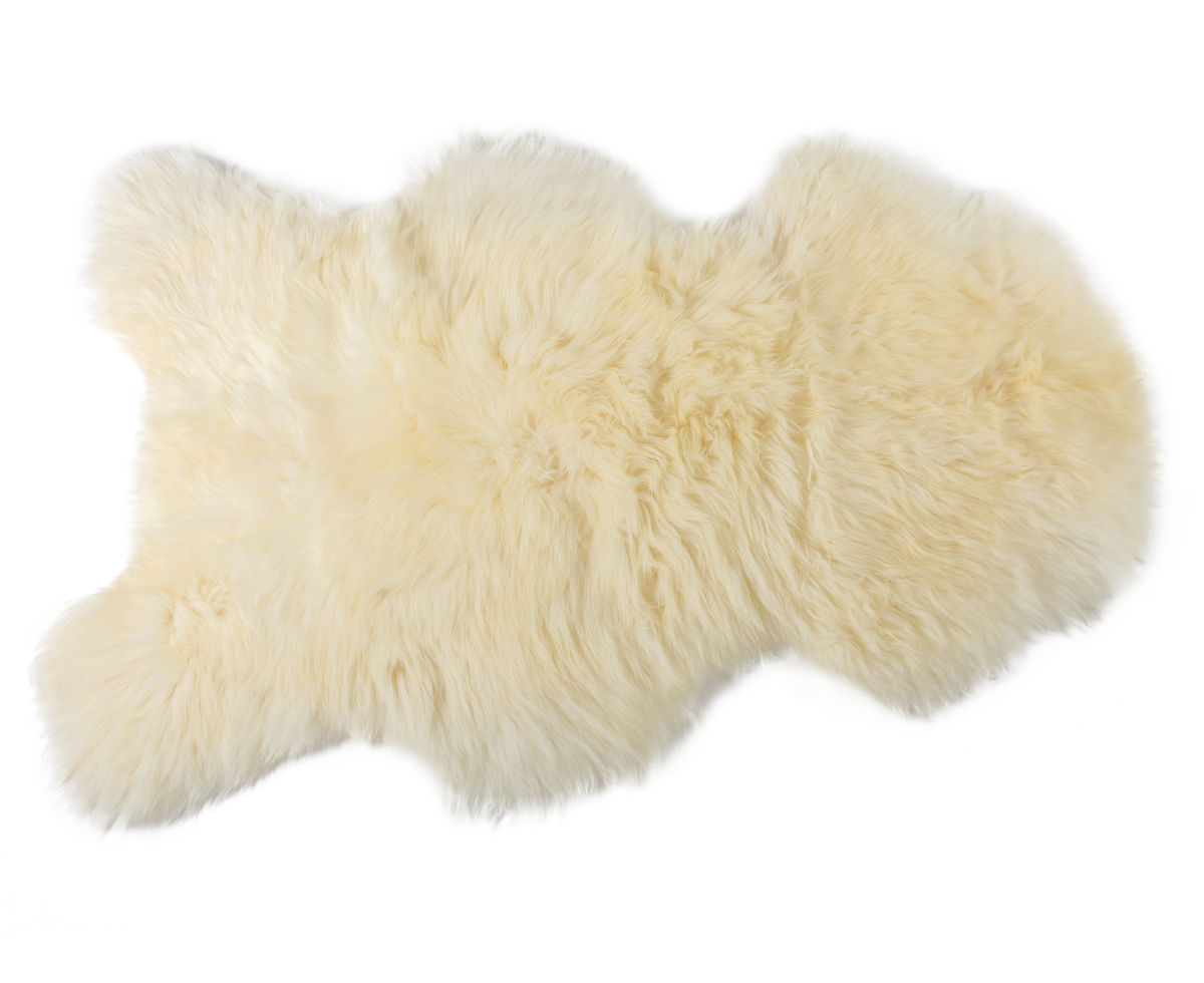 Decoration - Rugs - One Moumoute Sheepskin - 65 x 110 cm by FAB design - Short hair / Blanc - Sheep skin